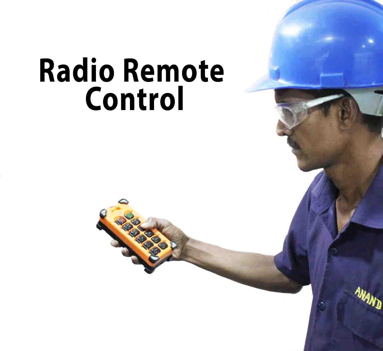 An Industrial Overhead Crane Radio remote control